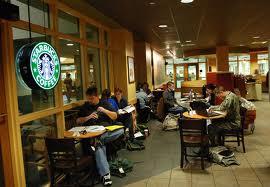 Writing in Starbucks