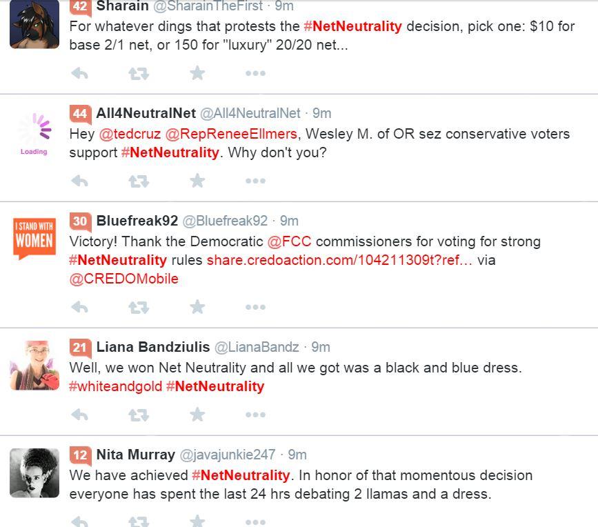 On #NetNeutrality